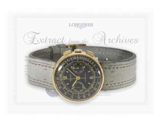 Marine chronometer: an extremely rare Longines Chronometer in Observatory quality, No. 6611375, circa 1944, with the master excerpt from the book