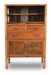 Two-door hardwood Cabinet with three relapses