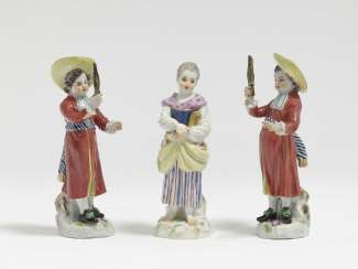 Three Meissen gardeners' children