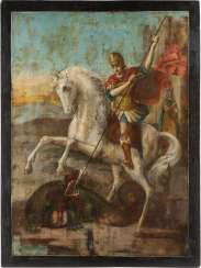 MONUMENTAL ICON WITH SAINT GEORGE THE DRAGON SLAYER Russia