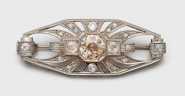 Art Deco-Diamantbrosche