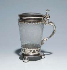 Tankard, with silver mount.