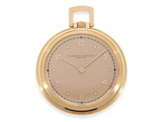 Pocket watch: very fine and extremely rare, almost mint condition Art Deco Frackuhr in rose gold, Vacheron & Constantin No. 262653, CA. 1937, archive-proof