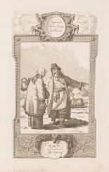 ENGLISH ENGRAVER Active around 1780/1800 'Habits of people in Russia' copperplate engraving on paper. 33 cm x 21 cm. Inscribed and titled in English. Min. Damaged