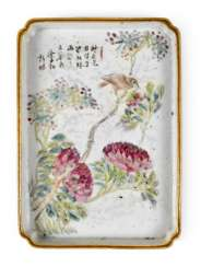 PORCELAIN TRAY WITH FLOWER