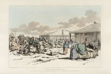 [RUSSIA] - ATKINSON, John Augustus (1775-1831), illustratore - James WALKER (1748-1808) - A Picturesque Representation of the Manners, Customs, and Amusements of the Russians, in One Hundred Coloured Plates. London: W. Bulmer e Cleveland-Row, 1803.
