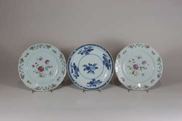 Group Of 3 Porcelain Plates