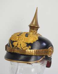 Prussia: Pickelhaube for officers.