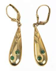 Emerald Earrings - Yellow Gold 333