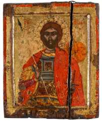 A SMALL ICON WITH THE HOLY ARTEMIOS OF EGYPT Greece