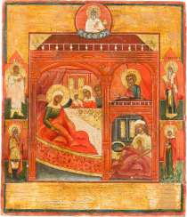 SMALL ICON DATED WITH THE BIRTH OF THE MOTHER OF GOD