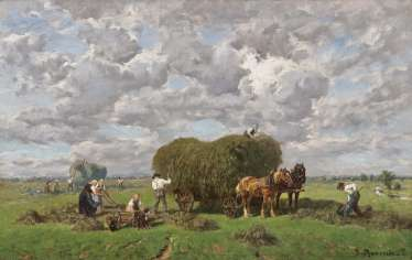 Peasants at the hay harvest