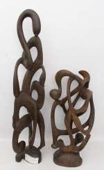 TWO AFRICAN trees of LIFE, ebony, 20. Century
