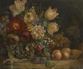 Anonymous: still life with flowers around 1800
