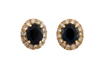 PAIR OF GEMSTONE STUD EARRINGS