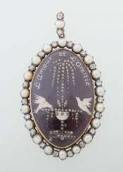 Pearl and diamond pendant from the end of the 18th century
