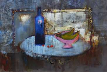 Still life with a mirror
