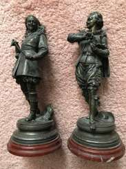 A pair of sculptures