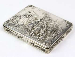Wallet with engraving - silver 800