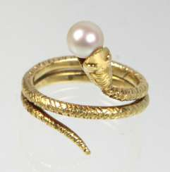 Akoya Perl Ring - Gelbgold 585