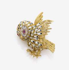 BROOCH IN THE FORM OF AN OWL