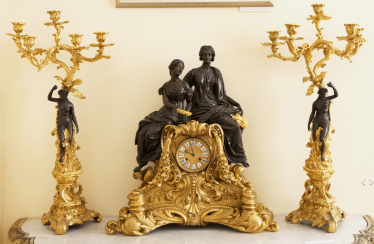 Clock with candelabra,France,19th century