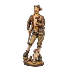 FIGURE OF A HUNTER WITH HUNTING DOG