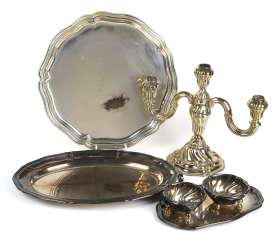 Lot of silver-plated items