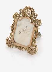 Frame with mother-of-pearl plate