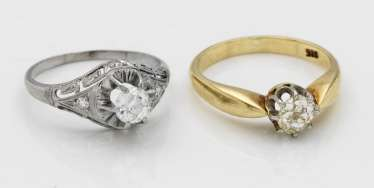 Two diamond rings from the 1940s