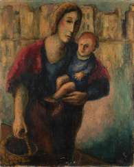 UNKNOWN MODERN Operating around 1920/1930. MOTHER WITH CHILD