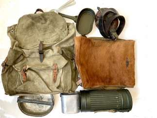 Wehrmacht: Items of equipment for a soldier.