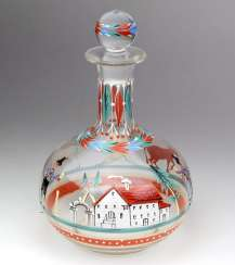 hand-painted carafe