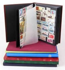 Postage stamps in 7 albums