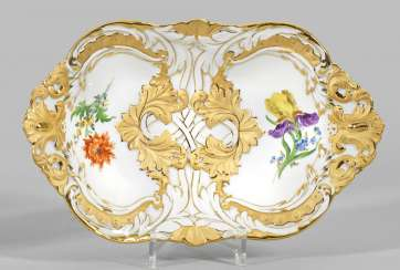Ceremonial bowl with flowers decor