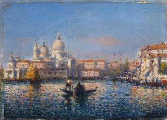 Two paintings of views of Venice