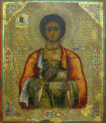 Icon Panteleimon the Healer of the XIX-th century