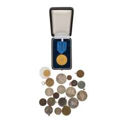 Collection of coins and medals, with GOLD and SILVER -