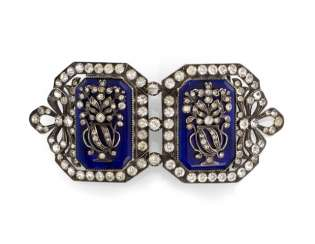 Expensive belt buckle in the Baroque style