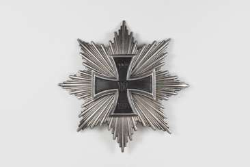 Hindenburg star, or star of the Grand cross, back side