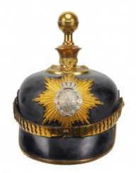 Saxony: a helmet for officers in the Fußartillerie-Regiment Nr. 12 and 19 (Metz / Dresden).