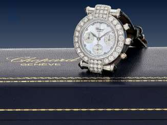 Watches: extremely luxurious ladies Chronograph watch, Chopard Imperiale Diamonds Ref. 383468, NP. 28.000€