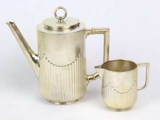 Coffee - and-cream-jug - silver 800