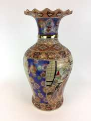 Large baluster vase, large bulbous Vase, China, Hand-painted, early 20. Century, in very good condition.