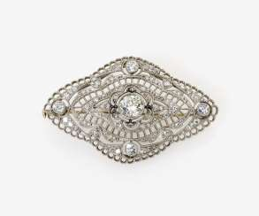 Brooch with diamonds. Germany, around 1910