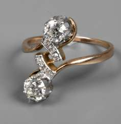 Ladies ring with brillant stocking of approximately 1 ct