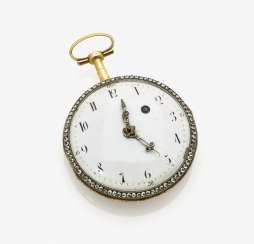 Pocket watch with enamel painting