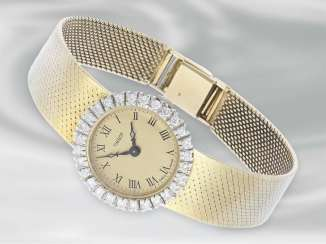 Wrist watch: 14K gold vintage wrist watch brand