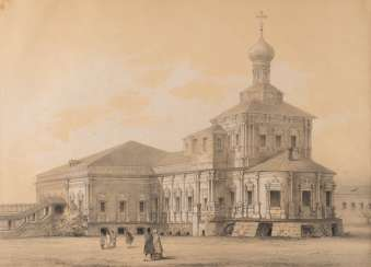 TEN VIEWS of RUSSIAN CATHEDRALS, MONASTERIES AND CHURCHES of Russia/ France, 2. Half of the 19th century. Century