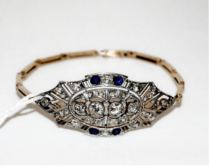Bracelet with diamonds and sapphires